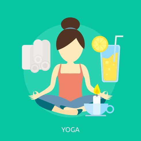 Yoga Conceptuele afbeelding ontwerp
