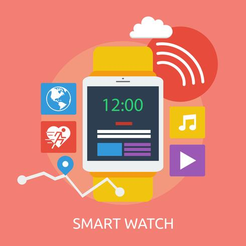 Smart Watch Conceptual illustration Design vector