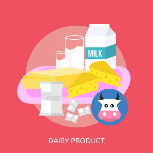 Dairy Product Conceptual illustration Design