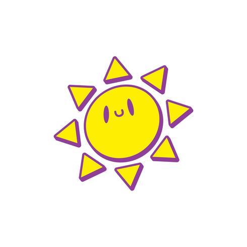 pequeña historieta linda del sol