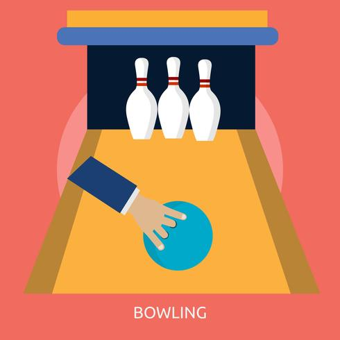 Bowling 2 Conceptuele afbeelding ontwerp