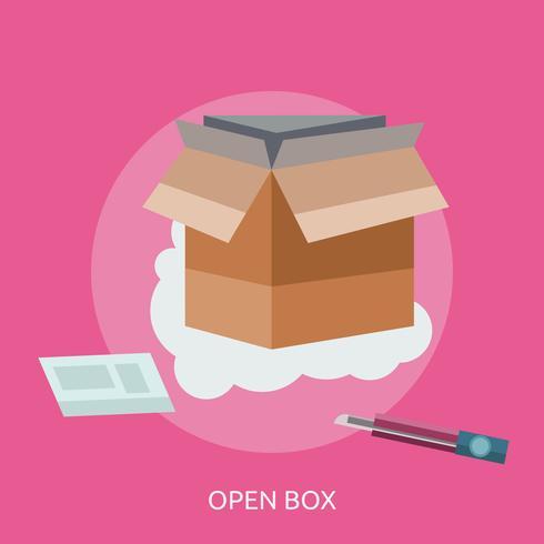 conception illustration conceptuelle boîte ouverte