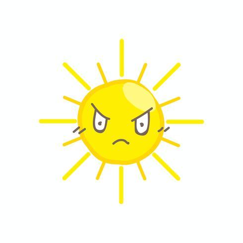 Vecteur de soleil sourire mignon