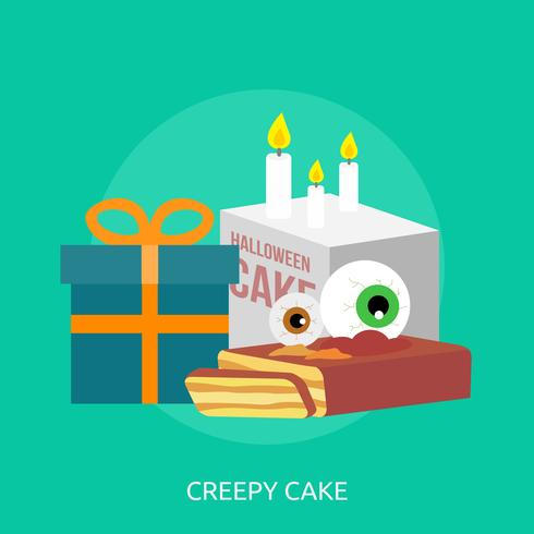Creepy Cake Conceptual illustration Design
