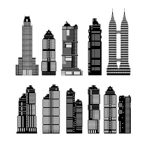 Gratte-ciel de la ville moderne vecteur