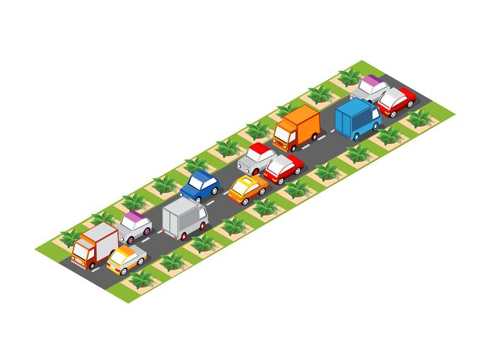 Road isometric 3D city - Download Free Vector Art, Stock Graphics