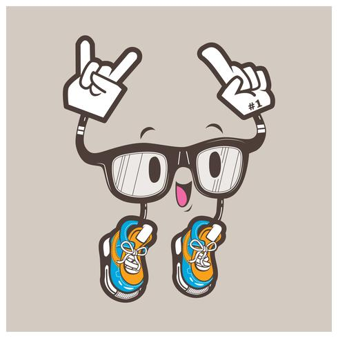 cool mascotte occhiali nerd