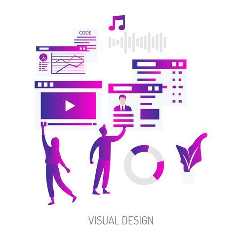 Diseño visual ilustración conceptual diseño