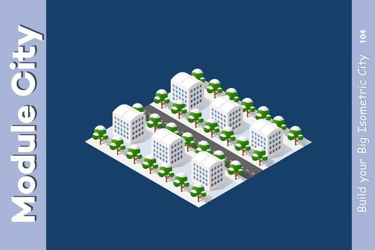 Top isométrico de paisaje 3D vector