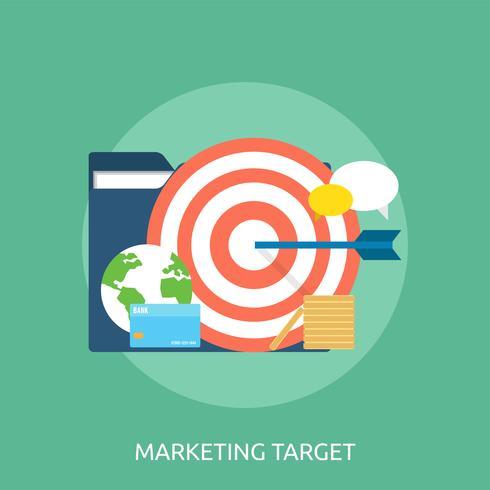 Marketing-Zielkonzeptionelle Illustration Design