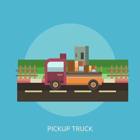Pickup Truck Conceptual illustration Design