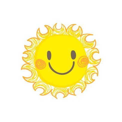 Vettore di sole sorriso carino