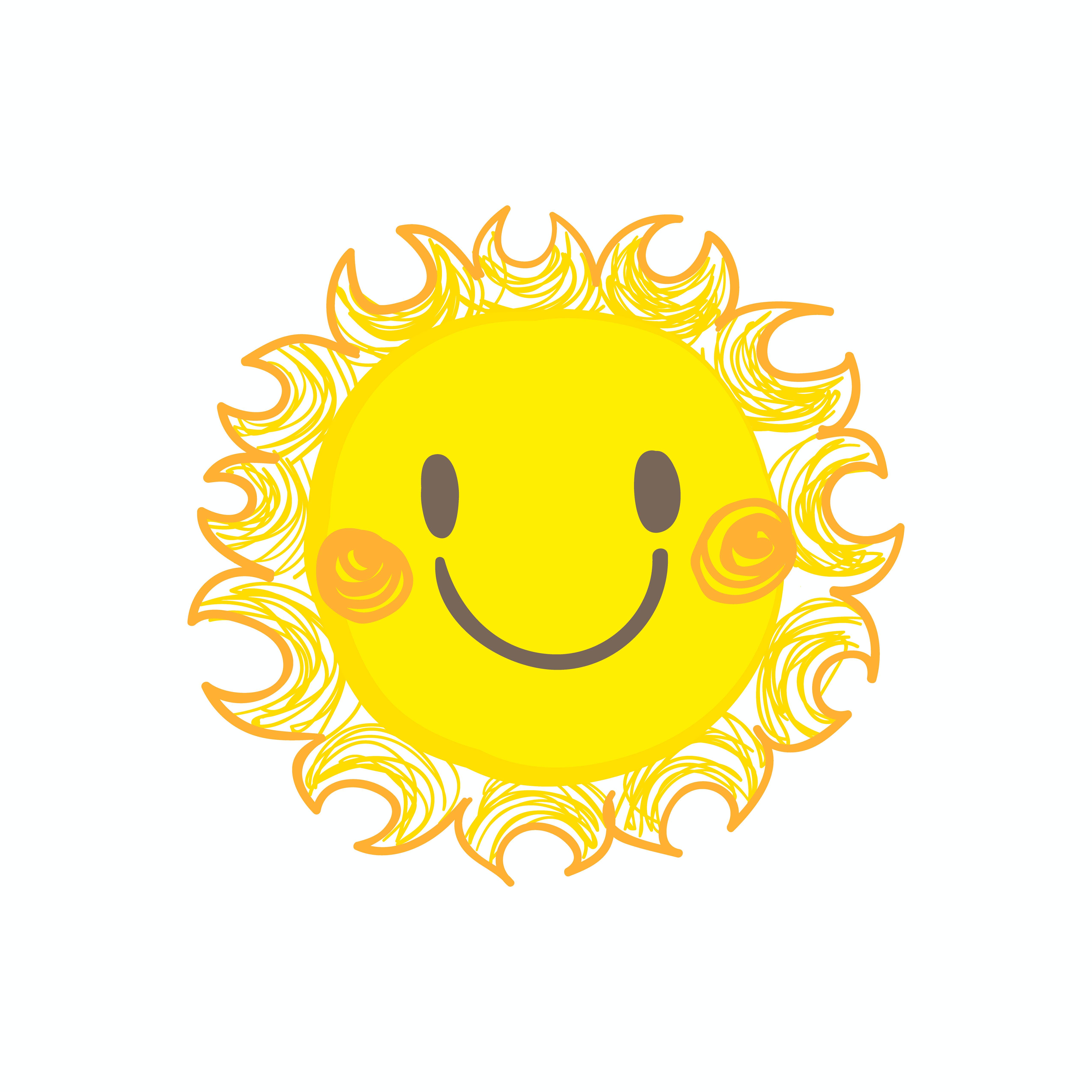 Сделать, картинки солнце улыбается глядя с высоты