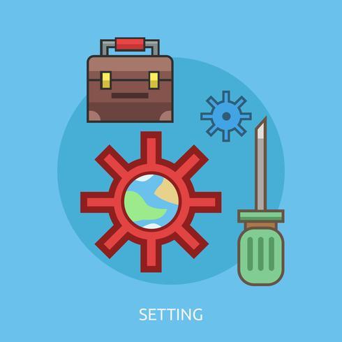 Configuración del diseño conceptual de la ilustración