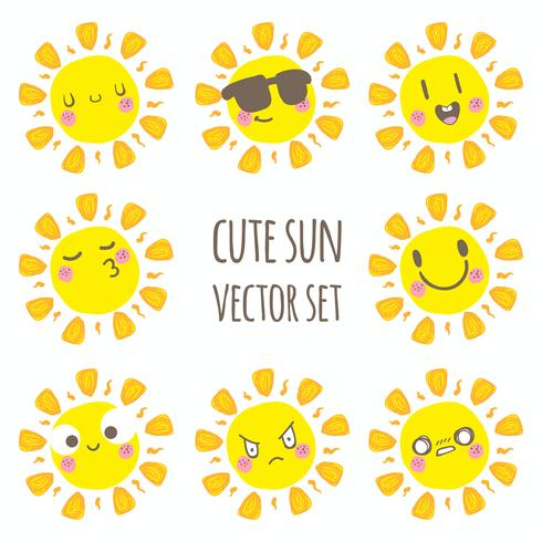 Leuke zon vector set