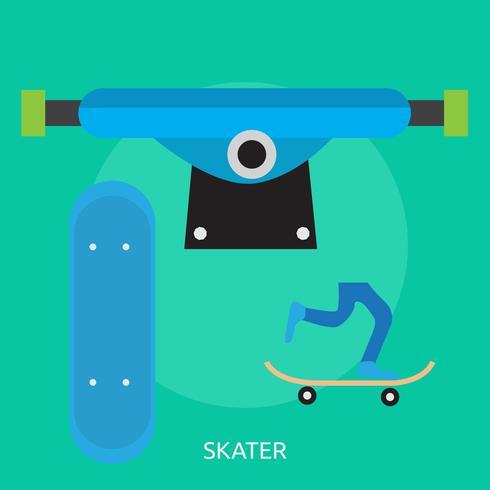 Skate Conceptuel illustration Design