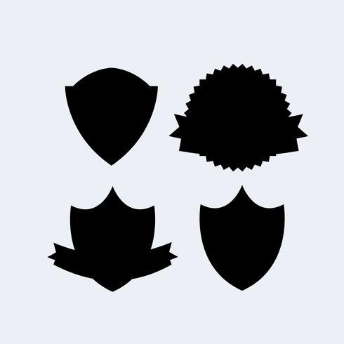 Bandeira de escudo de heráldica vetor