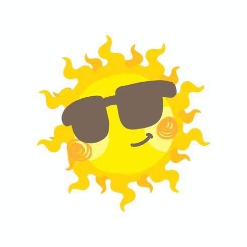 Leuke glimlach zon vector