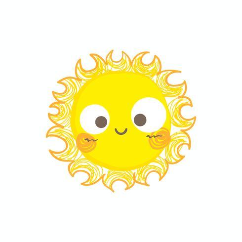 Netter Lächelnsonnenvektor