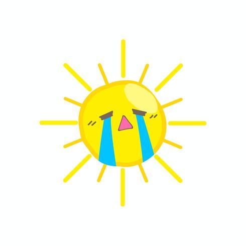 Netter Schrei-Sonnenvektor
