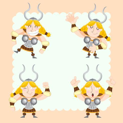 conjunto de vectores vikingos lindo