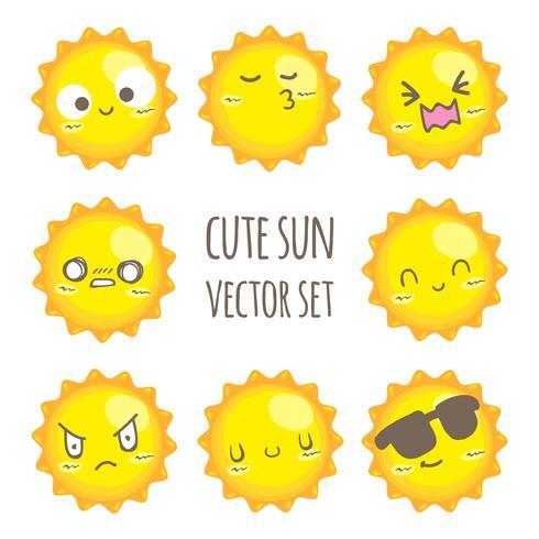 Netter Sonnenvektorsatz