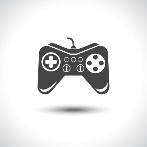 Reflexionssymbol des Glücksspiel-Joysticks schwarz