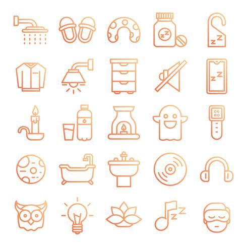 Pacote de ícones para dormir