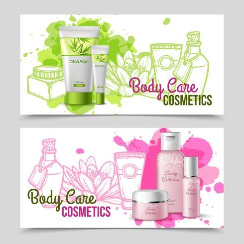 Körperpflegeprodukte 2 Banner gesetzt