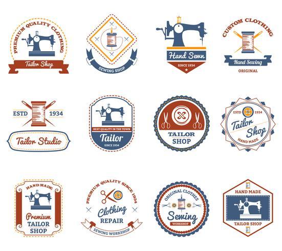 Skräddarsydda butiker original etiketter ikoner uppsättning