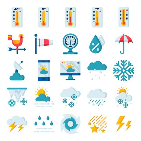 Pack de iconos del clima vector
