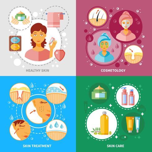 Skin Treatment Icons Set