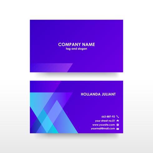 Modèle de carte de visite double face créatif et élégant