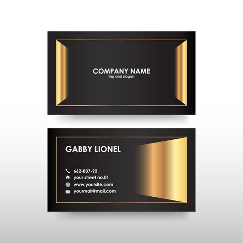 Kreativ och elegant dubbelsidig visitkortmall