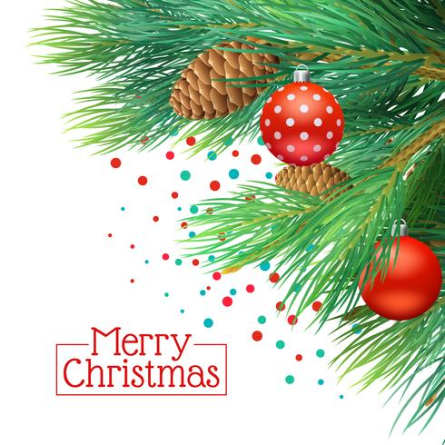 Fondo de ramas de árbol de Navidad