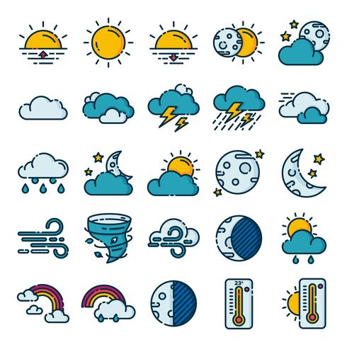 Pack de iconos del clima vector