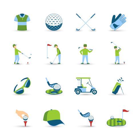Golf ikoner Set vektor