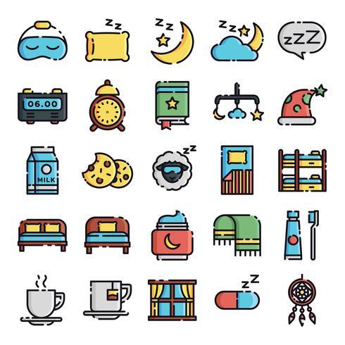 Pacchetto icone per dormire