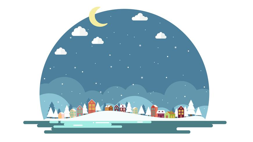 Design plat de fond de paysage d'hiver