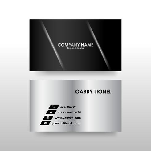 Creative and elegant double sided business card template