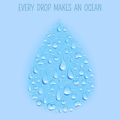 Cartaz de fundo de conceito de gota de água