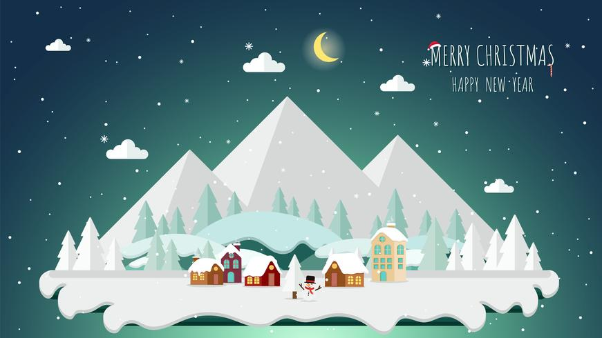 Design plano de fundo de paisagem de inverno