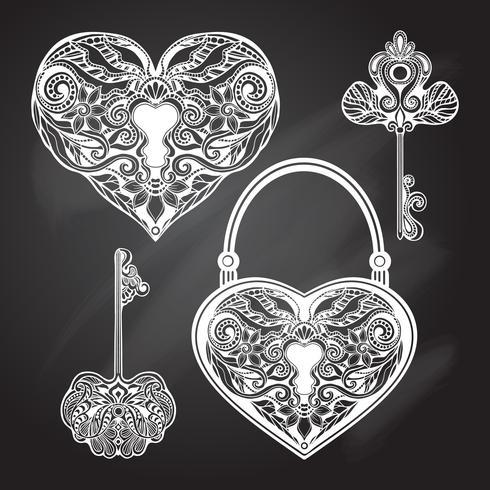 Set di chiavi e lucchetto per lavagna