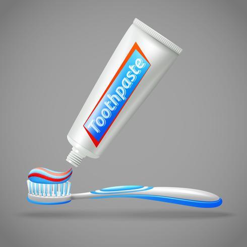 Tandborste och tandkräm design ikoner