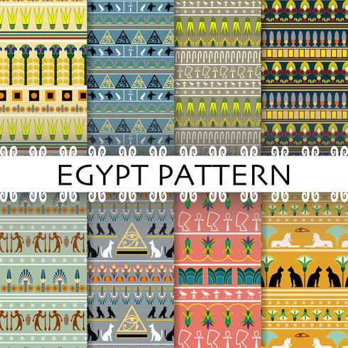 Vacker Egypten mönster Set Collection bakgrund