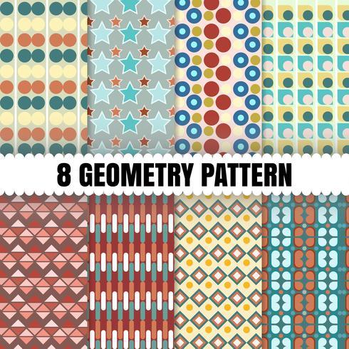 8 geometrie muster hintergrund