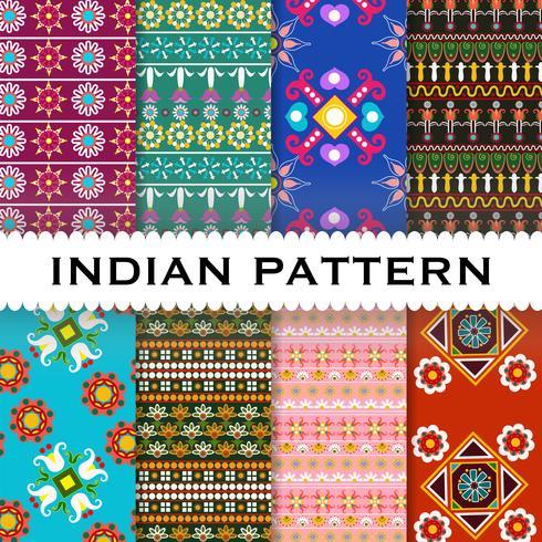Abstrakt indisk mönster bakgrund