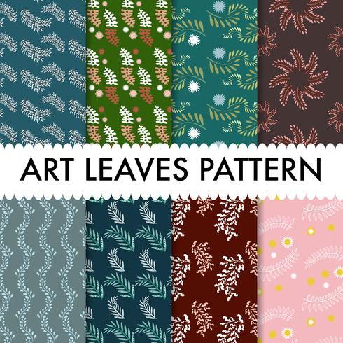 Art Leaves Pattern background