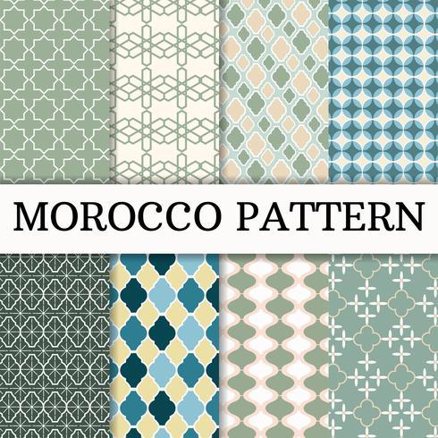 Morocco Pattern set Background