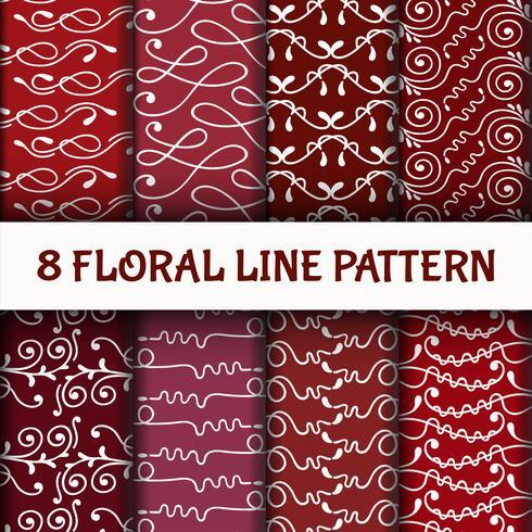 8 Establecer patrón de arte línea abstracta